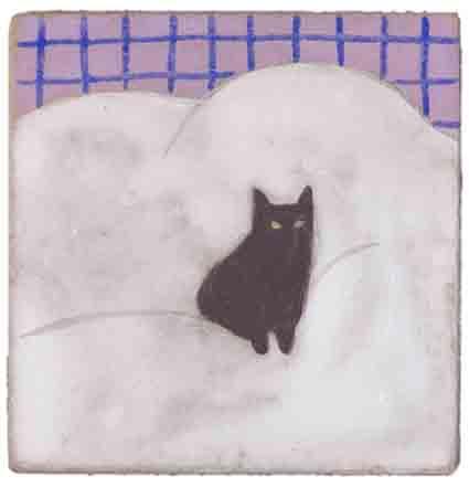 黒猫ふとん